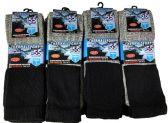 12 Pair of Excell Diabetic Socks, Neuropathy Socks, Colored Diabetic Socks (10-13, Thermal (Gray w/ Black Top)) - Diabetic Socks