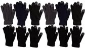 12 Pairs of WSD Winter Touchscreen Gloves for Men and Women, Warm Hands Fingers Outdoors (Assorted C, Mens) - Ski Gloves