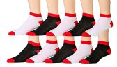 10 Pairs of WSD Mens Ankle Socks, No Show Athletic Sports Socks - Mens Ankle Sock