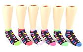 24 Pairs Pack of WSD Children's Low Cut Socks, Value Pack, Novelty Socks (Heart Print, 6-8) - Girls Ankle Sock