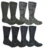 4 Pair Pack excell Mens Heat Retainer Winter Thermal Socks, Boot Socks - Mens Thermal Sock
