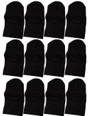 Wholesale Sock Deals Winter Ski Mask, Black 3-Hole Cold Weather Cover for Men and Women (12 Pack - 1 Hole with Visor) - Face Ski Masks Unisex