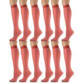 12 Pairs of excell Trouser Socks for Women, 20 Denier Knee High Dress Socks (Red) - Womens Dress Socks