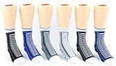 24 Pairs Pack of WSD Toddler's Crew Socks, Value Pack, Novelty Socks (Sneaker Print, 2-4) - Boys Ankle Sock