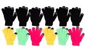 12 Pairs of WSD Winter Touchscreen Gloves for Men and Women, Warm Hands Fingers Outdoors (Assorted B, Womens) - Ski Gloves