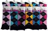 6 Pairs Of Mod And Tone Woman Designer Knee High Socks, Boot Socks (9-11, Pack E) - Womens Knee Highs