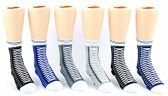 24 Pairs Pack of WSD Boy's & Girl's Crew Socks, Value Pack, Novelty Socks (Sneaker Print, 6-8) - Boys Crew Sock