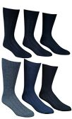 6 Pairs Of excell Mens Premium Winter Wool Socks With Cable Knit Design (1506),10-13 black,grey,blue - Mens Thermal Sock
