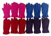 12 Pairs of MB55 Ladies Lightweight Winter Fleece Gloves - Fleece Gloves