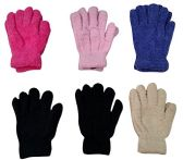6 Pairs Of excell Womens Soft Warm And Fuzzy Solid Color - Fuzzy Gloves