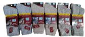 12 Pairs Of Mens excell Merino Wool Blend Thermo Insulating Hiking Boot Socks - Mens Thermal Sock