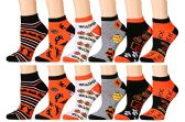 12 Pairs excell Women's Halloween Novelty Cute Socks - Womens Ankle Sock