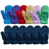 12 Units of Yacht & Smith Kids Warm Winter Colorful Magic Stretch Mittens Age 2-5 - Kids Winter Gloves