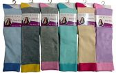 6 Pairs Of Mod And Tone Woman Designer Knee High Socks, Boot Socks (Pack C)