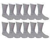 12 Pair Of excell Ladies Gray Diabetic Neuropathy Socks, Sock Size 9-11