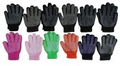 12 Pair Of excell Womens Assorted Color Winter Gripper Gloves - Conductive Texting Gloves