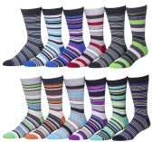 12 Pairs Of Mens excell Fashion Designer Printed Socks, New Trends And Designs - Mens Dress Sock