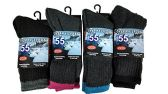4 Pairs of excell Women's Casual Thermal Crew Socks Assorted Colors, Size 9-11 - Womens Thermal/Sweater/Boot