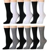 WSD Womens Value Pack Printed Crew Socks Many Colors, Soft Touch Fun Prints (Pack I) - Womens Crew Sock