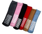 6 Pairs of excell Womens Diabetic Medical Non Skid Slipper Socks, #5896-9-11