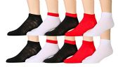 10 Pairs of WSD Mens Ankle Socks, No Show Athletic Sports Socks
