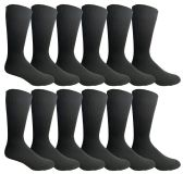 12 Pairs of excell Mens Fashion Designer Dress Socks, Cotton Blend (846) - Mens Dress Sock