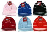6 Sets Of excell Kids Hat And Matching Glove Winter Set. - Winter Sets Scarves / Hats / Gloves