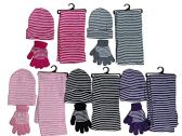 5 Pack Of excell Womens 3 Piece Winter Set, Hat Glove And Scarf - Winter Sets Scarves / Hats / Gloves