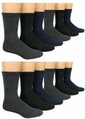 12 Pairs Of excell Mens Heavy Duty Wool Blend Winter Warm Work Socks - Mens Thermal Sock