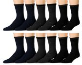 12 Units of 12 Pairs of SOCKSNBULK Mens Casual Thermal Tube Socks in Assorted Colors, Size 10-13 - Mens Thermal Sock