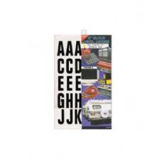 72 Units of Block vinyl letters - Stickers