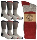 6 Pairs of excell Men's Winter Warm Thermal Tube Socks, Size 10-13 - Mens Thermal Sock