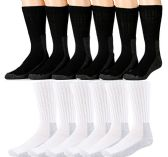 4 Pairs of SOCKSNBULK Mens Steel Toe Socks, Thick Boot Sock, Heavy Duty Industrial Work (10-13) - Mens Crew Socks