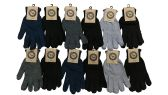 12 Pairs of Excell Merino Wool Gloves, Warm Winter Cold Weather - Magic Acrylic Gloves