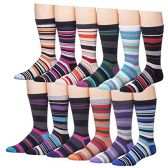 Men's Pattern Dress Socks Cotton Blend Colorful Designes (2900) - Mens Dress Sock