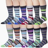 Men's Pattern Dress Socks Cotton Blend Colorful Designes (3200) - Mens Dress Sock