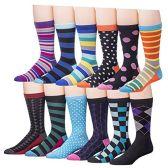 Men's Pattern Dress Socks Cotton Blend Colorful Designes (3500) - Mens Dress Sock