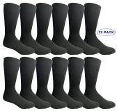 Executive Dress Series Men's Black Dress Socks Cotton Blend (12 Pair) Size 10-13 - Mens Dress Sock