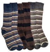 Nicole Miller Cotton Fashion Dress Socks Stripes Solids And Argyles (JW-10-13-A) - Mens Dress Sock