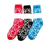 3 Pairs of Sherpa Fleece Lined Slipper Socks, Gripper Bottoms, Best Warm Winter Gift (Assorted Hearts A)
