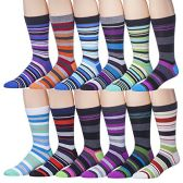 Men's Pattern Dress Socks Cotton Blend Colorful 12 Designes 2900 - Mens Dress Sock
