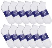 12 Pairs of Men Socks Ankle, Sport Athletic Low Cut No Show Socks (White) - Mens Ankle Sock