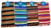 4 Pieces Womens Winter Fleece Scarfs, Warm, Striped - Winter Scarves