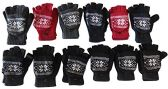 12 Pairs Of excell Mens Womens Snow Flake Fingerless Cuff Gloves / Mitten - Magic Acrylic Gloves