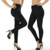 2 Pack Of mod & tone Womens Black Heavy Fleece Winter Seamless Leggings #3501 (Large/ XL) - Womens Leggings