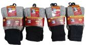 6 Pairs of excell Thermal Socks for Kids, Cotton Blend, Size 4-6 - Boys Crew Sock