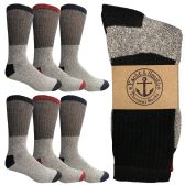 6 Pairs of excell Women's Thermal Tube Socks, Sock Size 9-11