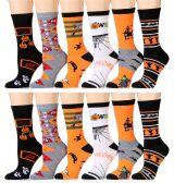 12 Pairs excell Women's Halloween Novelty Cute Socks - Womens Crew Sock