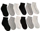 12 Pair Of excell Kids Assorted Colors Cotton Ankle Socks - Girls Ankle Sock