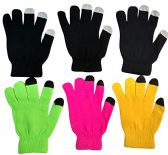 6 Pairs Of excell Womens Touch Screen Winter Gloves, Texting Gloves - Conductive Texting Gloves